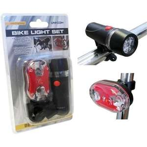 Front and Rear LED Bike lights Hombase collect in store £1.50