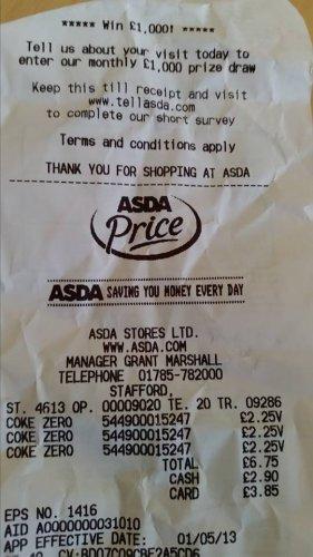 30 Cans Coke Zero £2.25 in Asda IN STORE