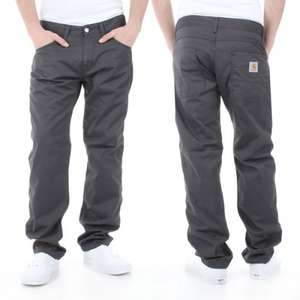 Mens Carhartt Skill Pants in Black or Grey FREE delivery to store or £3.95 footasylum