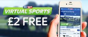 URGENT:  Sky Bet Virtual Sports £2 Free Until 22:00 Tonight