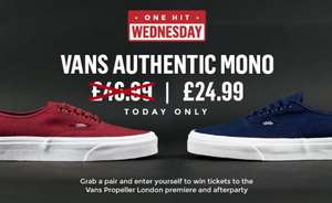 One Hit Wednesday: Vans Authentic Mono £24.99 + P&P - £28.98 Today Only @ routeone