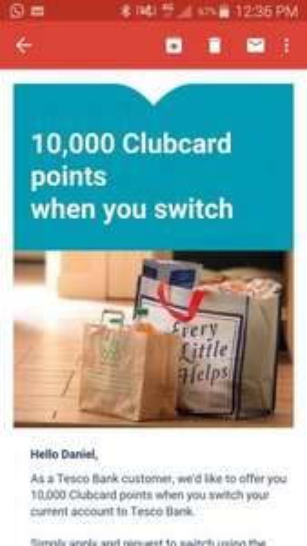 tesco current account £100 switcher