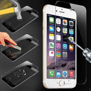100% Genuine Tempered Glass Film Screen Protector for Apple iPhone 6 £1.29 @ v9universal EBAY