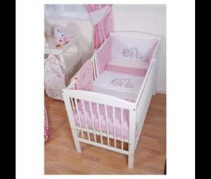 Tesco Hamilton have Red Kite Cosi Cot Bedding Set Hello Ernest, Pink/blue 27.00 scanning at £6.75