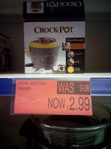 Crock Pot Food Warmer - £2.99 @ B&M