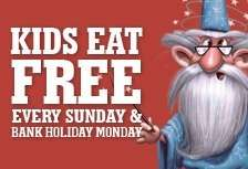 Kids Eat Free Every Sunday & Bank Holiday Monday with a paying Adult @ Your Local Crown Carveries