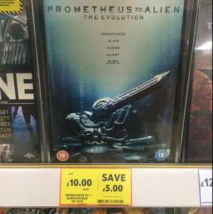 £10 - Prometheus to Alien 8-Disc DVD Boxset - Tesco Maryhill