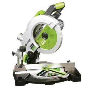 Evolution 1100W 210mm Compound Mitre Saw £38 B&Q this weekend