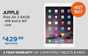 iPad Air 2 64GB Wifi Gold £419.89 @ Costco + 2 Year Warranty + Free Del