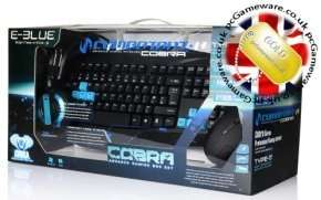 E-Blue Cobra Gaming Headset, Keyboard and Mouse Bundle  £34.17 delivered @ Ebuyer (Blue/Red/Green available)
