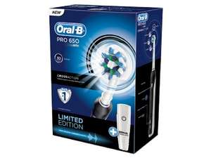 Braun Oral-B Pro 650 CrossAction Rechargeable Electric Toothbrush - Limited Edition Black LOWEST Price Ever £19.99 @ Amazon