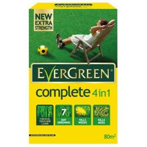 B&Q Evergreen ® Complete 4 In 1 Lawn Feed, Weed & Moss Killer £5