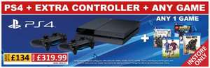 PS4 console plus 2 controllers and a choice of any game for £319.99 Smyths Toys instore