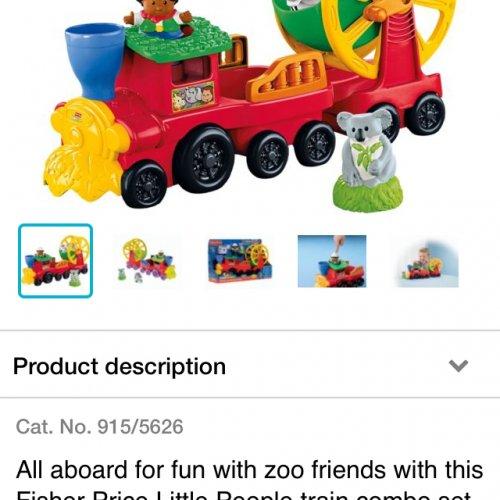 Little people train £11.99 Argos