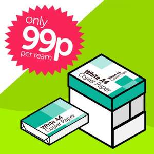 80gsm A4 Printer Paper 99p per ream @ Frillo