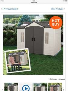 lifetime 10 x 8 shed £849.99 costco