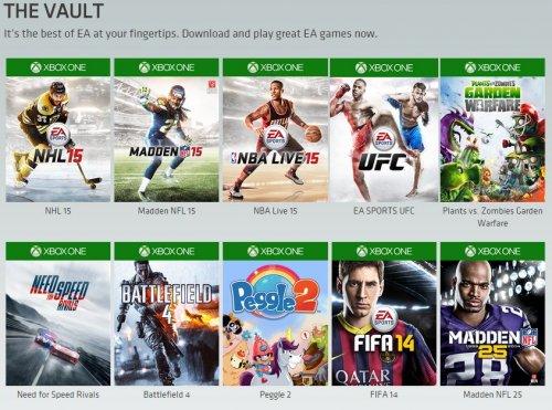 Madden NFL 15, NBA Live 15, NHL 15, UFC (EA Access) £19.99 @ Xbox