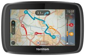 "TomTom 400 GPS Satellite Navigation System Europe 4.3"" Screen 3D Map Brown Box £65 at Tesco ebay outlet"