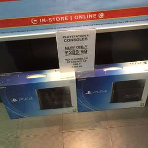 Sony Playstation 4 £289.99 @ HMV in store
