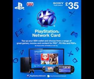 £35 PlayStation Network Card for £32 @ Tesco Direct
