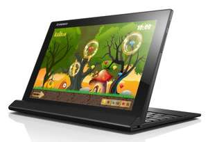 Lenovo Miix 3 tablet/netbook with Keyboard, Atom Processor, 2Gb RAM, 32Gb Storage, 10.1 inch Touchscreen 2-in-1 Laptop- Black - £189 with £10 off code 4XEEF - free click and collect from Very