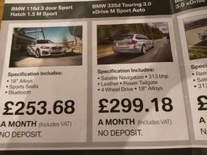 BMW 116D M Sport 18 month contract hire £253.68/month