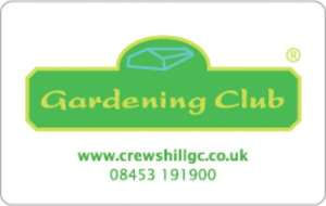 Free membership of The Gardening Club plant nursery at Crews Hill, Enfield.