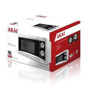 Akai A24002 Manual Microwave, 800 Watt, Silver reduced to £43.97 Delivered @ Amazon