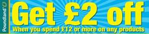 £2 off £12 spend Voucher @ Poundland in 55p Daily Mirror paper this Saturday