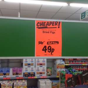 DRIED FIGS 250g for only 49p @ Lidl