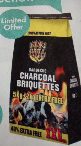 XXL Barbecue Charcoal  Briquettes 7 kgs £2.89 @ Lidl