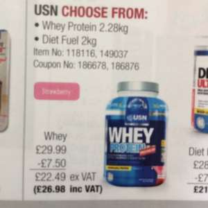 USN Whey protein 2.28kg £26.98 Costco