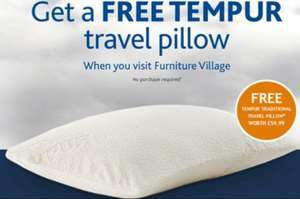 Free tempur travel pillow (in store)