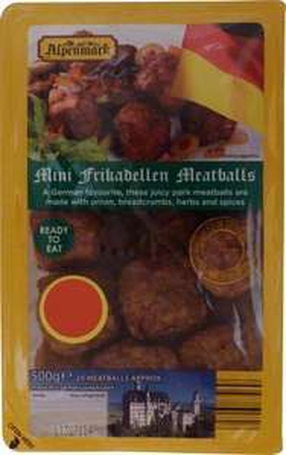 Alpenmark Mini Frikadellen Meatballs (20 per pack - 500g) ONLY £1.75 @ Aldi