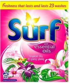 Surf Laundry Powder Tropical Lily 23 Wash 1.61kg INSTORE £2.00 @ ICELAND