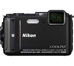 Nikon Coolpix AW130 Tough Digital Camera - Black £160 (Usually £279) @ Currys