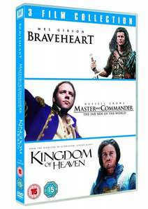 Braveheart / Master and Commander: The Far Side of the World / Kingdom of Heaven Triple Pack (DVD) £2.50 Delivered @ Tesco Direct