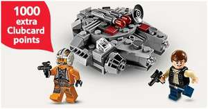 Get 1000 Extra Clubcard Points when you spend £60 or more on LEGO (Worth upto £40 in deals) + Upto 25% off