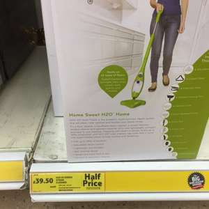 H20 x5 steam mop £39.50 instead of £79.50 @ tesco in store and online