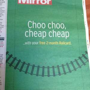 Free 2months Family&Friends Railcard when you buy the daily mirror