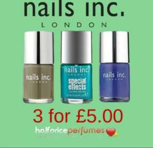 Nails Inc Triple Pack worth £33.00, just £5.00 PLUS FREE Bronzing Cream @ Half Price Perfumes