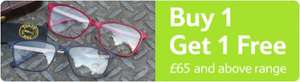 Buy one get one free on prescription Glasses & Sunglasses (£65 and above range) TESCO