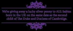 Free Lucky Silver Penny to all babies born today 02/05/2015 - Royal Mint