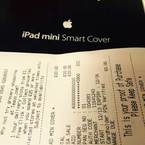 Apple iPad mini Smart Cover - Tesco in store £10