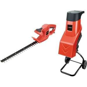 Sovereign Shredder & Hedge Trimmer Twin Pack 288592 £42.44 @ HomeBase