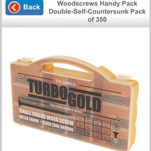 Turbo gold WoodScrew set - 50% off- £5 @ screwfix