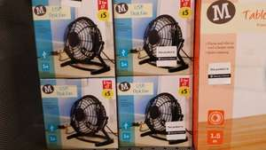 usb mini desk fan £5 each, two for £7 @ Morrisons