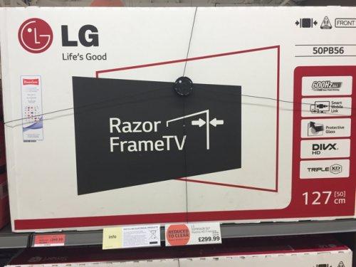 LG 50PB560B 50 inch Plasma £299.99 @ Sainsburys (dunchurch)
