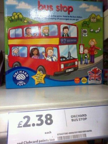 Orchard Toys Bus Stop game £2.38 Tesco Extra, Telford