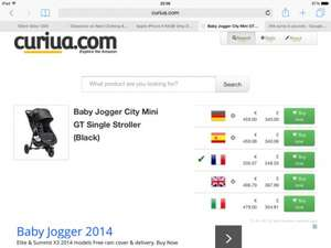 Baby Jogger City Mini GT £257 delivered @ Amazon.fr